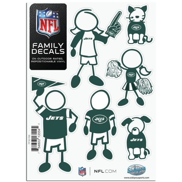 NFL New York Jets Small Family Decals