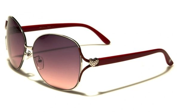 96005 Romance Large Round Aviators Red