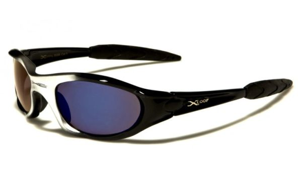 2056 XLoop Black and Silver with Blue Lens