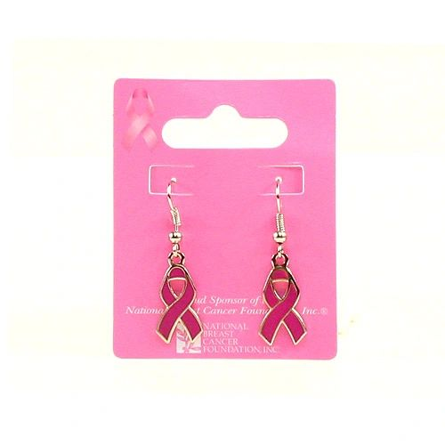 Pink Ribbon Dangle Earrings