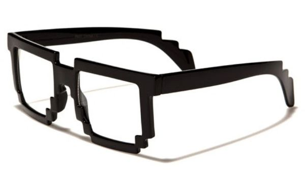 Pixelated Clear Lens Wholesale Dozen