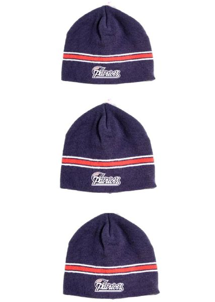 NFL New England Patriots 3Pack Beanie with Red Stripe