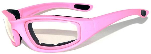 750 Padded Motorcycle Pink Clear Lens