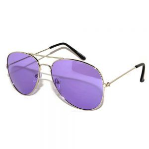 Aviator Silver Purple Lens