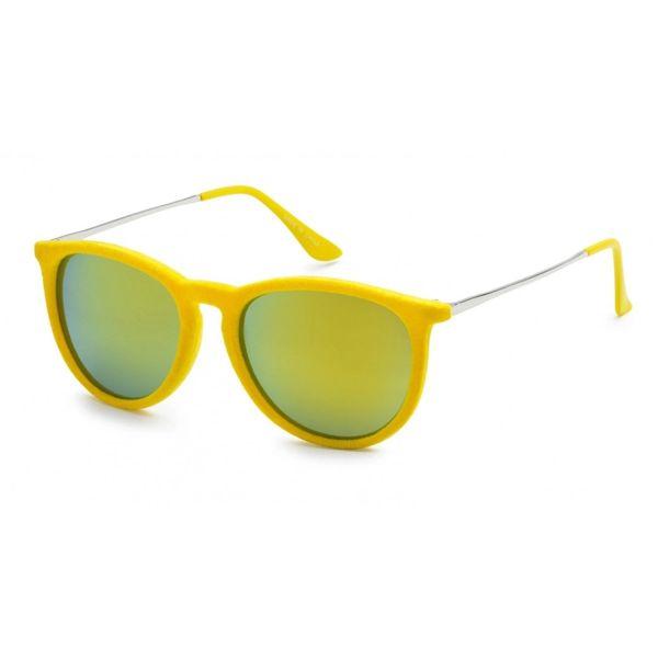 1061 Fuzzy Velvet Retro Yellow Colored