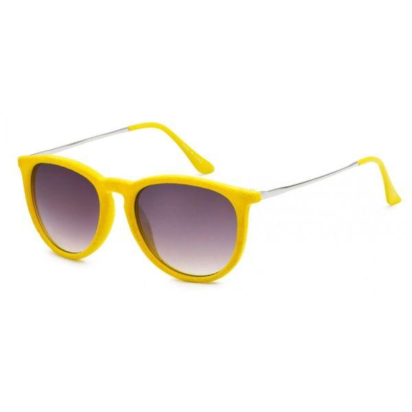 1061 Fuzzy Velvet Retro Yellow