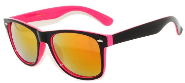 Retro Two-toned Black and Pink with RED Lens