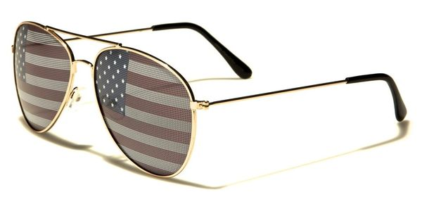 1028 USA Flag Aviator Gold 2 Pack