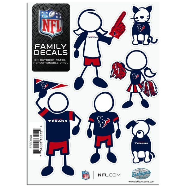 NFL Houston Texans Small Family Decals