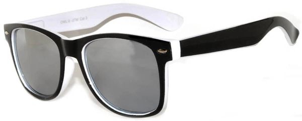 Retro Two-toned Black and White Mirror Lens