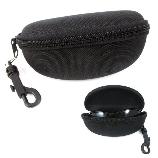 Black Textured Zipper Case Large