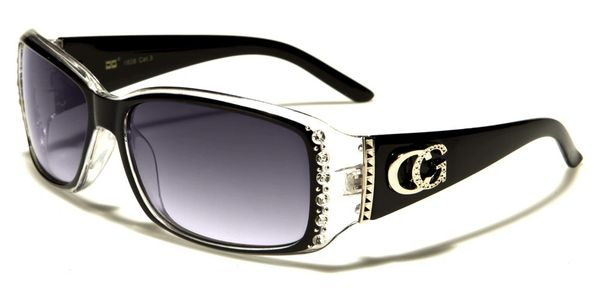 1808 CG Eyewear Rhinestone Black Clear
