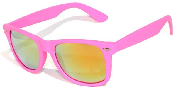 Retro Matte Finish Pink with RED Lens