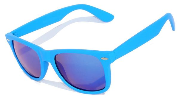 Retro Matte Finish Light Blue with Colored Lens