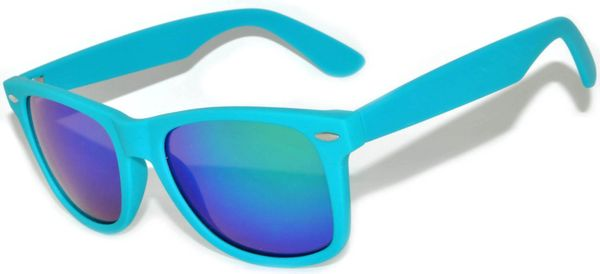 Retro Matte Finish Turquiose with Colored Lens