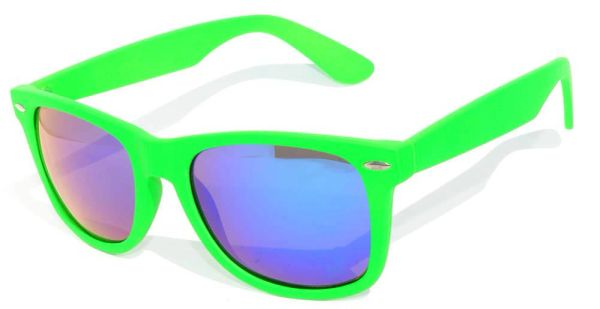 Retro Matte Finish Green with Colored Lens