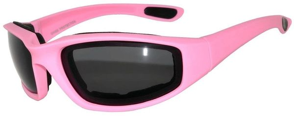 750 Owl Padded Motorcycle Pink Smoke Lens