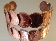 Genuine Copper Coin Bracelet
