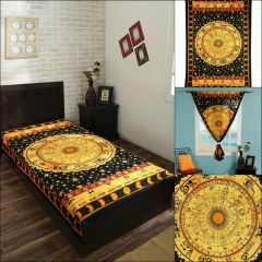 """Astrology Indian Wall Hanging Tapestry 30*40"""" Throw Horoscope Zodiac"""