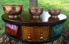 3 Piece OM Symbol Copper Bowl Set