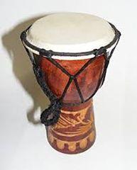 "7"" Djembe Drum Hand Carved (randomly picked )"
