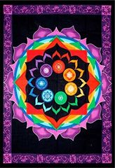 Cotton Single Tapestry Rainbow Chakra