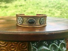 Copper Cuff Black Tourmaline-Pentacles