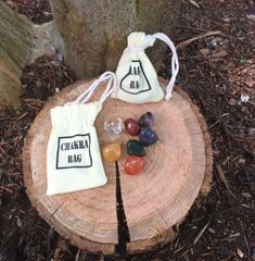 7 Stone Chakra Bag w/ Tumbled Stones (Bag May Vary)