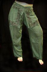 Skirt Front Harem Pants