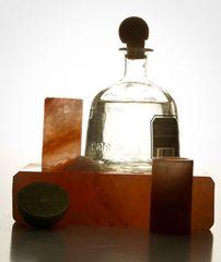 Himalayan Salt Tequila Glasses - 4 with Salt Block