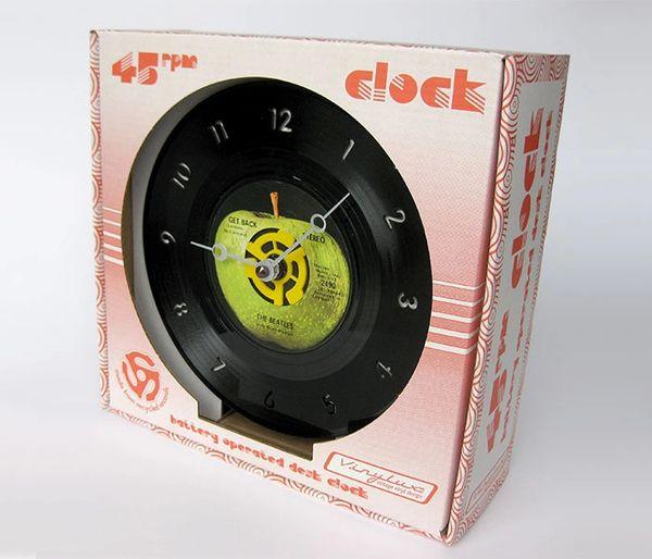 45rpm Record Desk Clock Generation Gap Records Vinyl