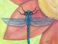 "Rejoice the Dragonfly - Original painting 11"" x14"""