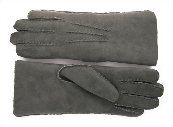 Classic Steel Grey Sheepskin Shearling Gloves