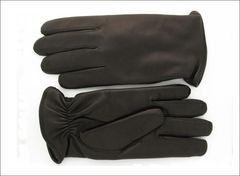 Men's Chocolate brown Cashmere lined without 3 points (lines) on top of glove