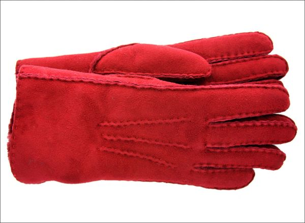 Rusty Red Classic Sheepskin Shearling Gloves