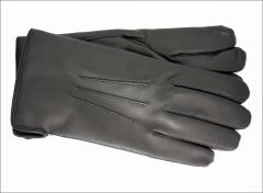 Men's classic black cashmere lined gloves