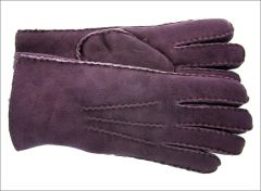 Classic Plum Sheepskin Shearling Gloves
