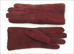 Classic Oxblood Sheepskin Shearling Gloves