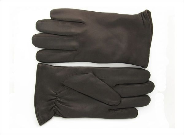 Men's Black Cashmere lined without 3 points (lines) on top of glove