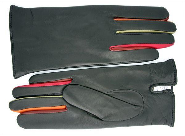 Mario Fazio Classic ladies gloves with rainbow fingers
