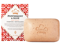 Nubian Heritage Peppermint Soap with Crushed Almonds & Baking Soda