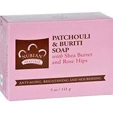 Nubian Heritage Patchouli & Buriti Soap with Rose Hips
