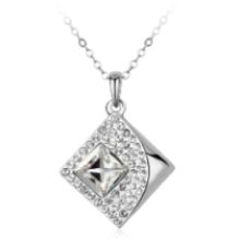 OUXI Design Crystal & Diamond Necklace Made with Crystals From Swarovski