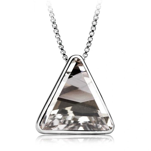 Zena Triangular Necklace Made With Crystals From Swarovski
