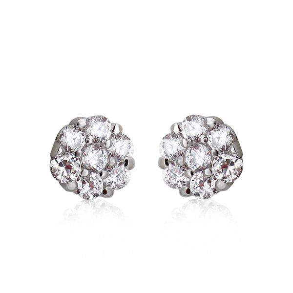 Zena 925 Sterling Silver Crystal Ball Earrings Made With Crystals From Swarovski