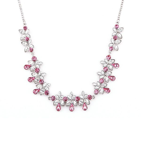 Zena Classic Red Necklace Made With Crystals From Swarovski