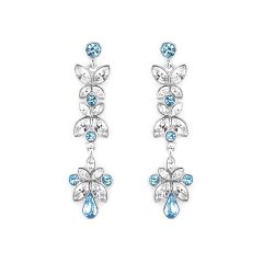 Zena Classic Blue Earrings Made With Crystals From Swarovski