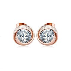 OUXI Rose Gold Earring Made With Crystals From Swarovski