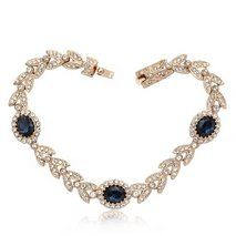 Ouxi 18k Gold Plated Bracelet Made With Crystals From Swarovski