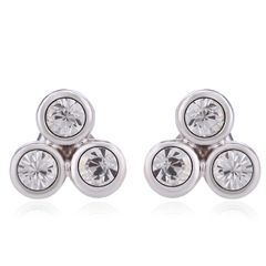 OUXI 18K Gold Plated Stud Earrings Made With Crystals From Swarovski